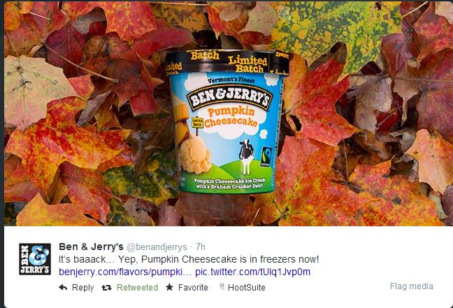 Ben & Jerry's Pumpkin Cheesecake Ice Cream