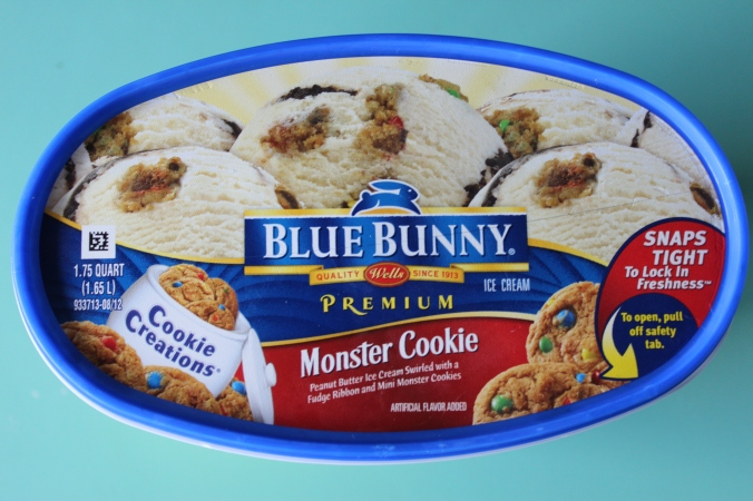Blue Bunny Monster Cookie Ice Cream Review