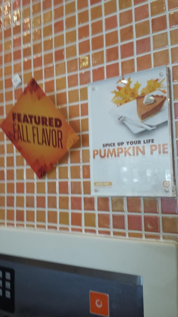 Orange Leaf Pumpkin Pie Frozen Yogurt