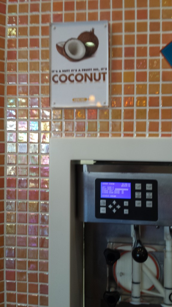 Orange Leaf Coconut Frozen Yogurt