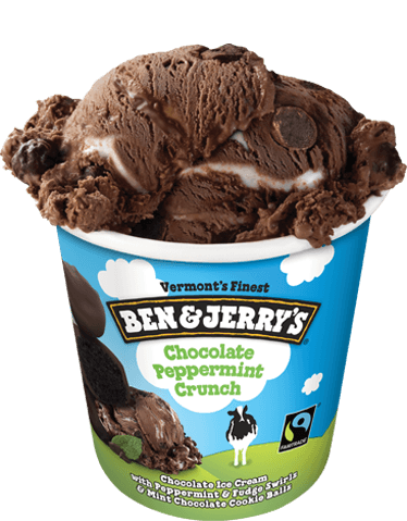 Ben & Jerry's  chocolate peppermint-crunch