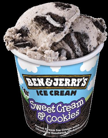 Ben & Jerry's Sweet Cream Cookies Ice Cream