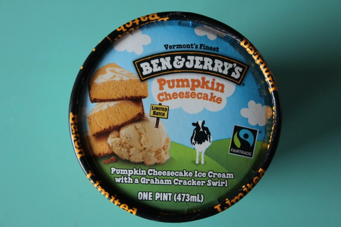 Ben and Jerry's Pumpkin Cheesecake Review